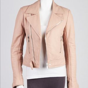 BALENCIAGA Lambskin Leather Classic Biker Jacket